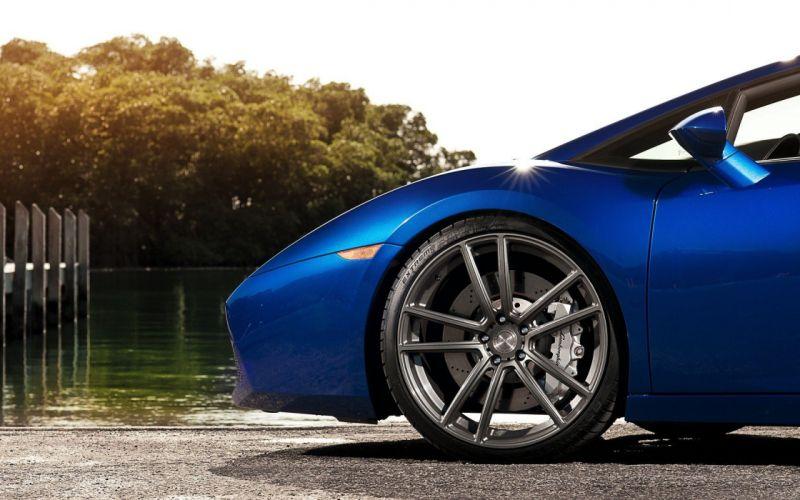 cars Lamborghini sunlight supercars rims Lamborghini Gallardo Spyder blue cars wallpaper
