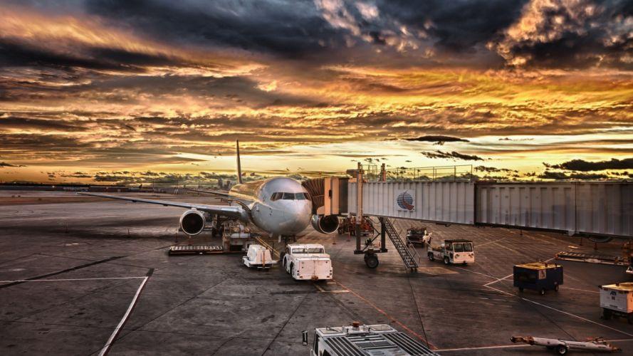 aircraft airports runway wallpaper