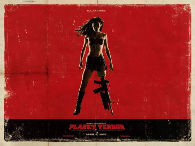 movies Planet Terror Rose Mcgowan Grindhouse Quentin Tarantino movie posters wallpaper