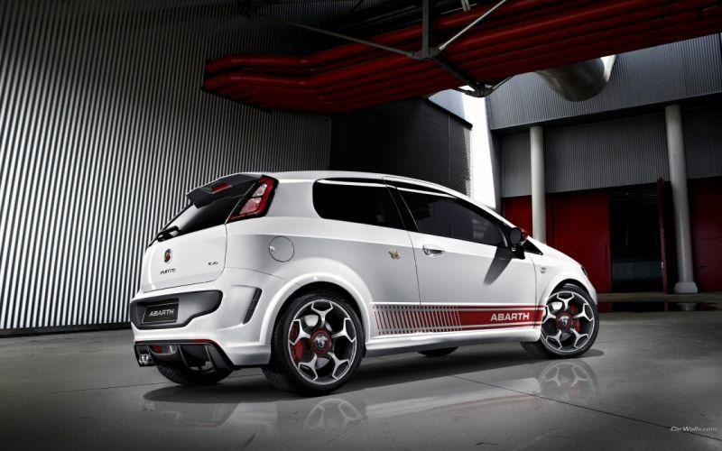 cars Fiat Punto Mitsubishi Evo wallpaper