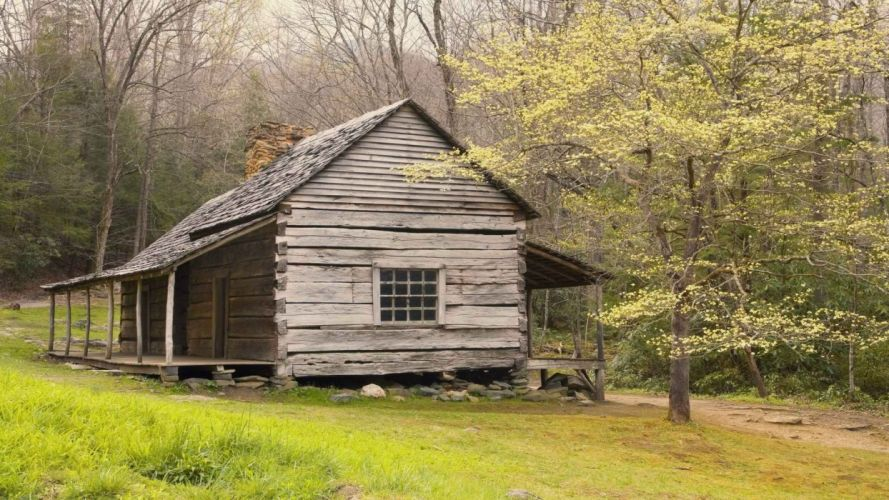 mountains nature Tennessee trail cabin National Park wallpaper