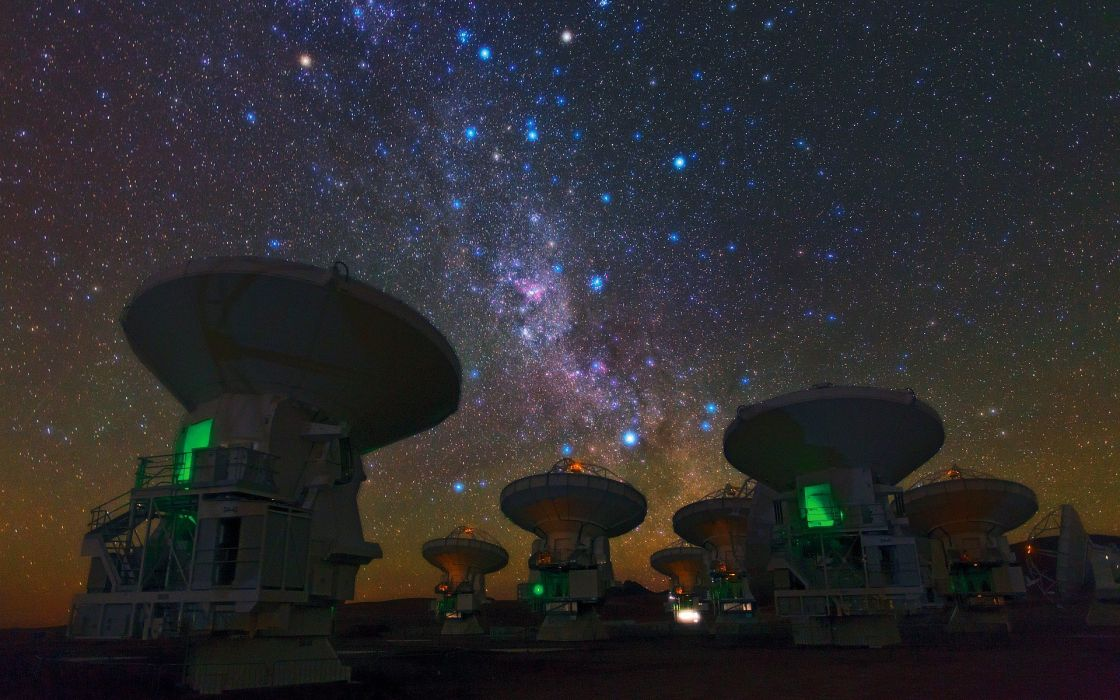 outer space stars telescope Radio telescope wallpaper