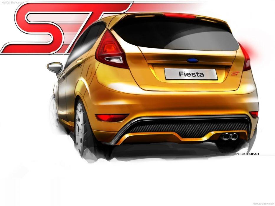 cars concept art Ford Fiesta wallpaper