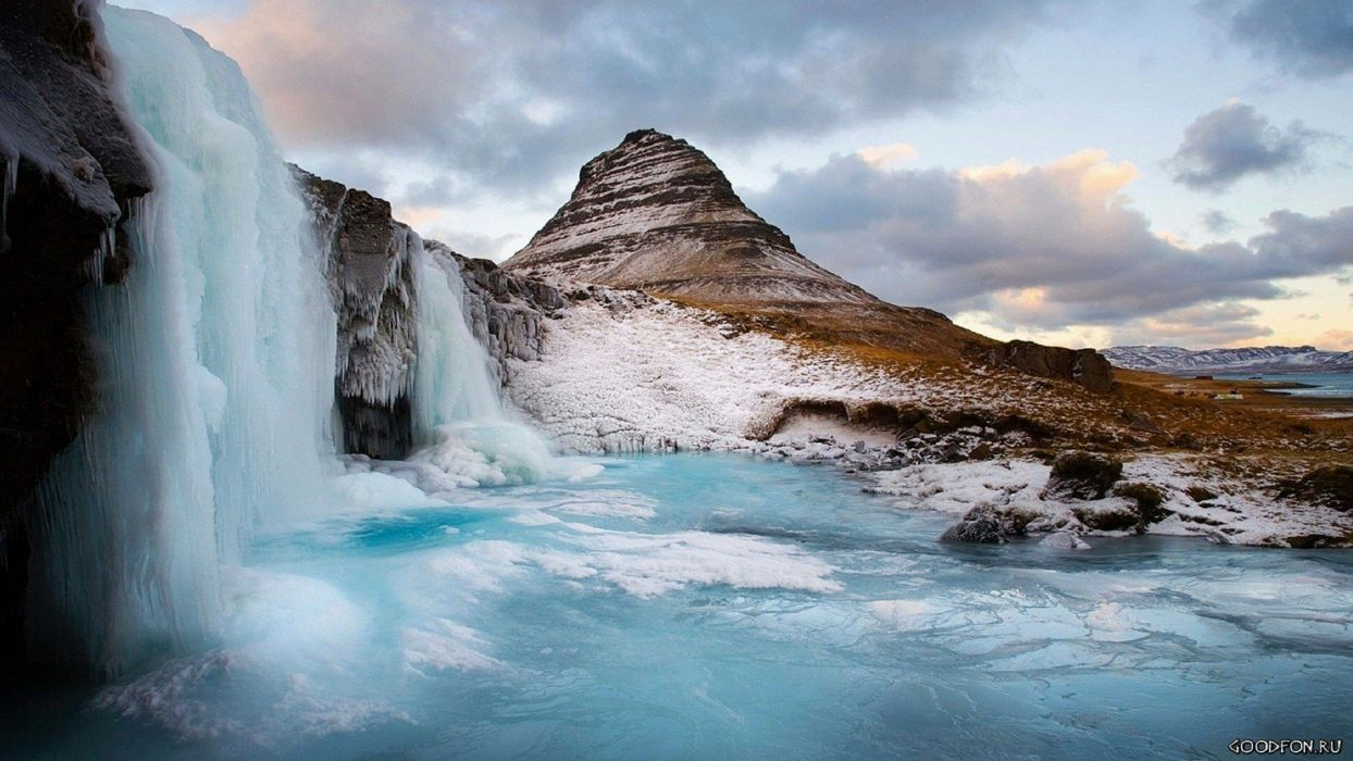 winter waterfalls TV shows wallpaper