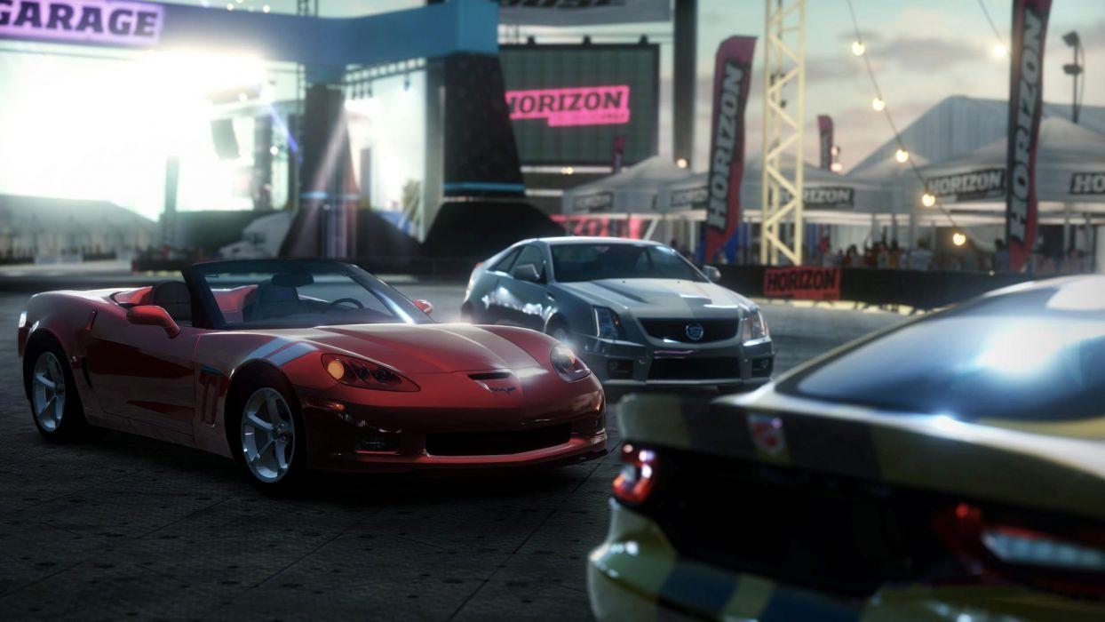 video games cars Xbox 360 Dodge Viper SRT-10 Cadillac CTS-V Forza Horizon Chevrolet Corvette GrandSport wallpaper