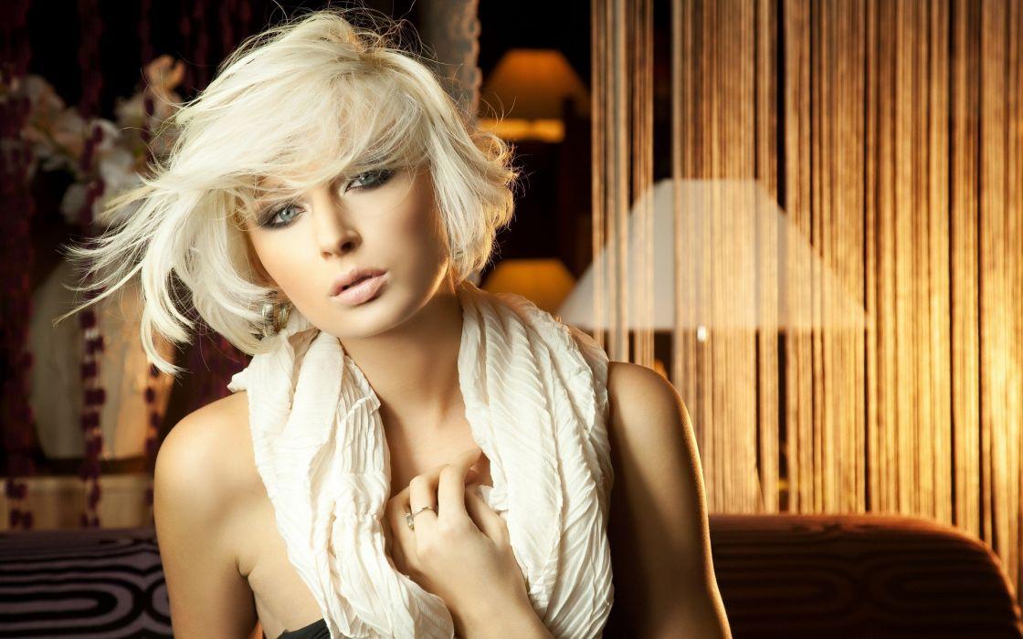 blondes women blue eyes wallpaper
