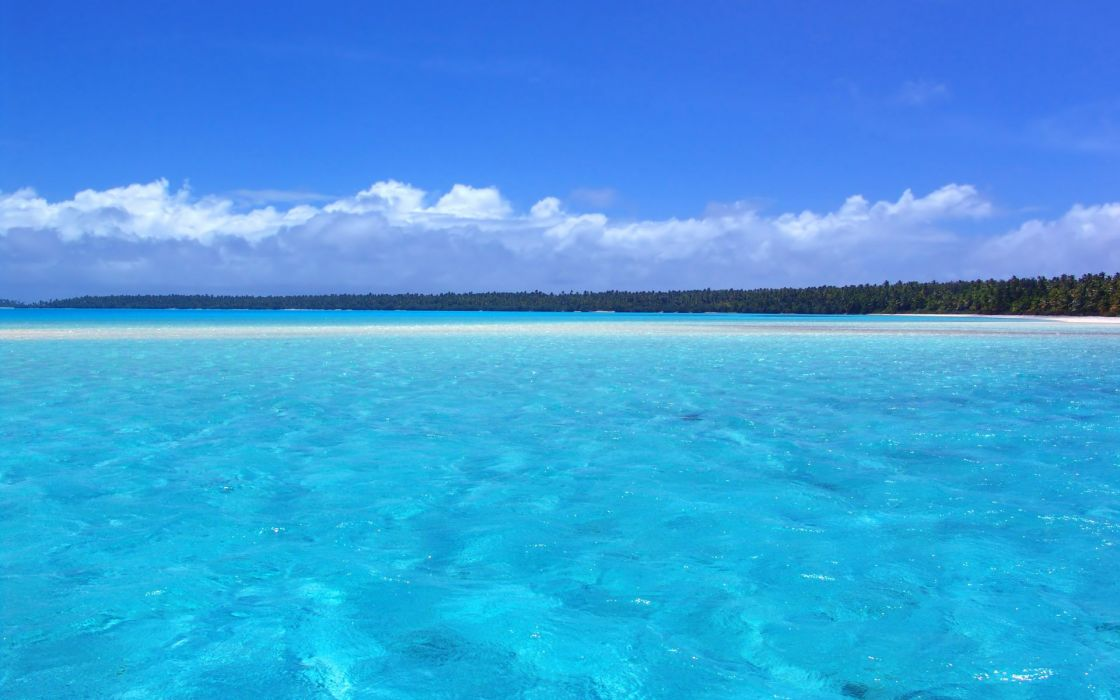 blue landscapes nature azure sea beaches wallpaper