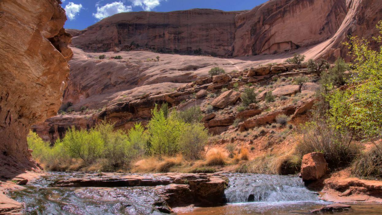 cliffs rivers wallpaper