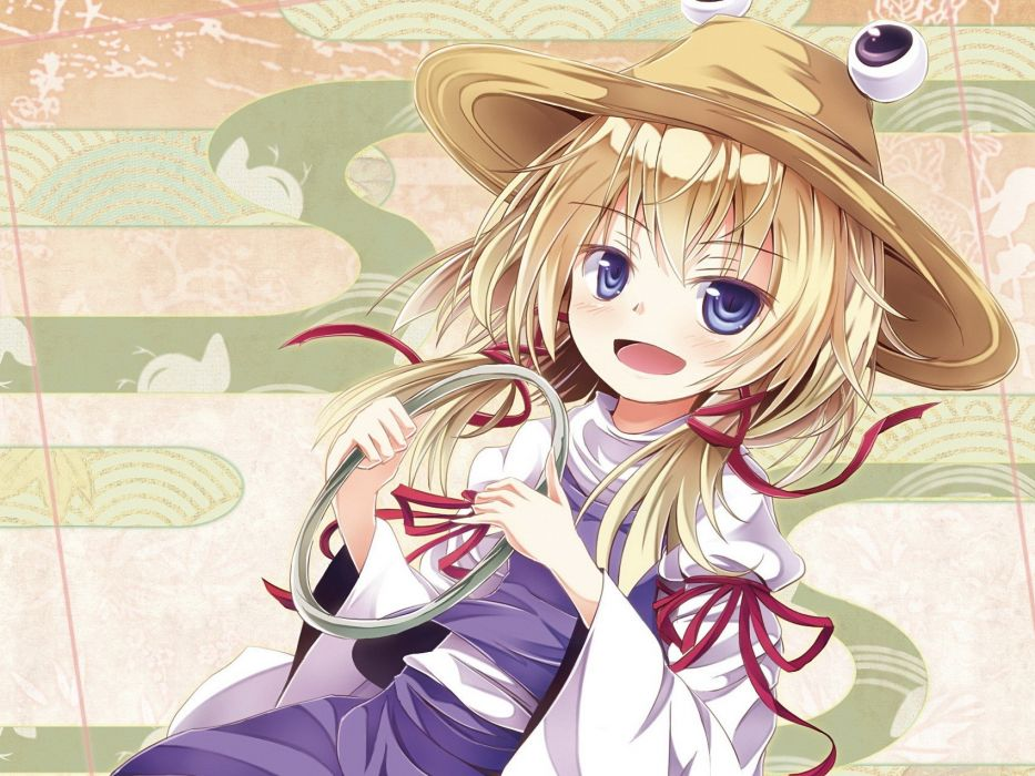 blondes video games Touhou Moriya Suwako anime hats anime girls wallpaper