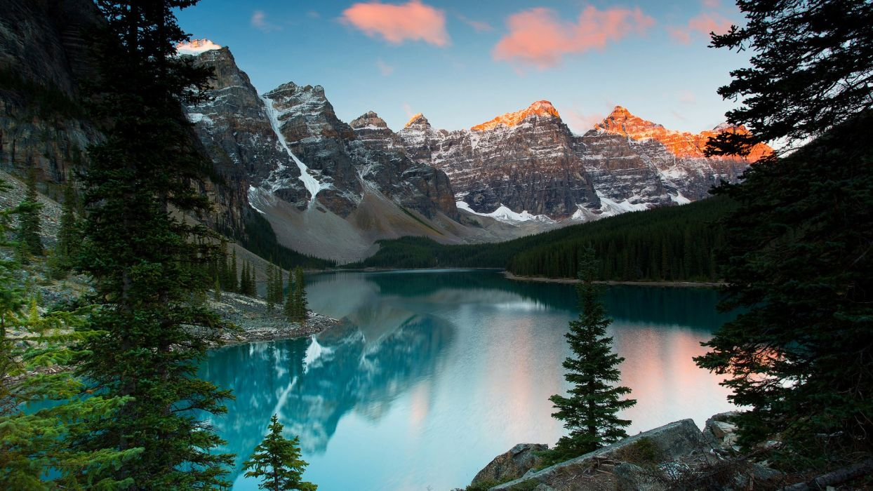 Alberta Canada mountain wallpaper