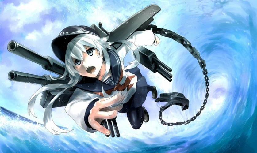 Anime Girls kantai collection hibiki Flight Chain wallpaper