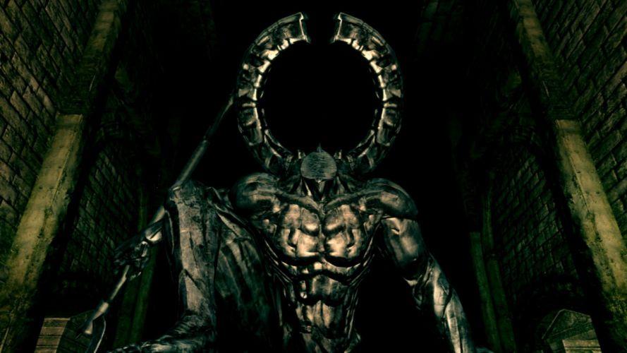 armor dark horror monster dark souls wallpaper
