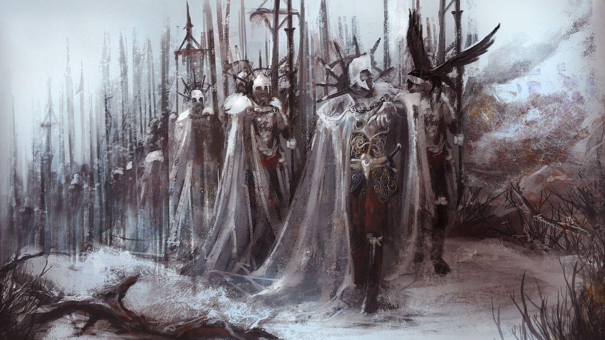 army warrior knight armor wallpaper