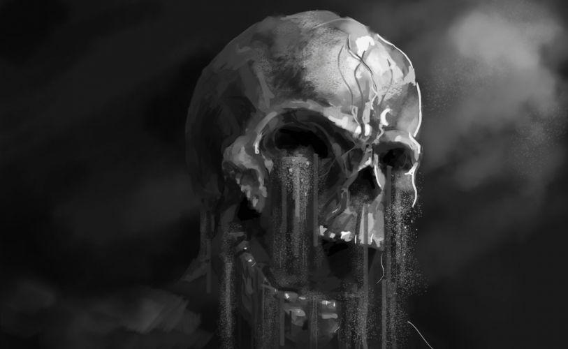 art horror dark skull fantasy wallpaper