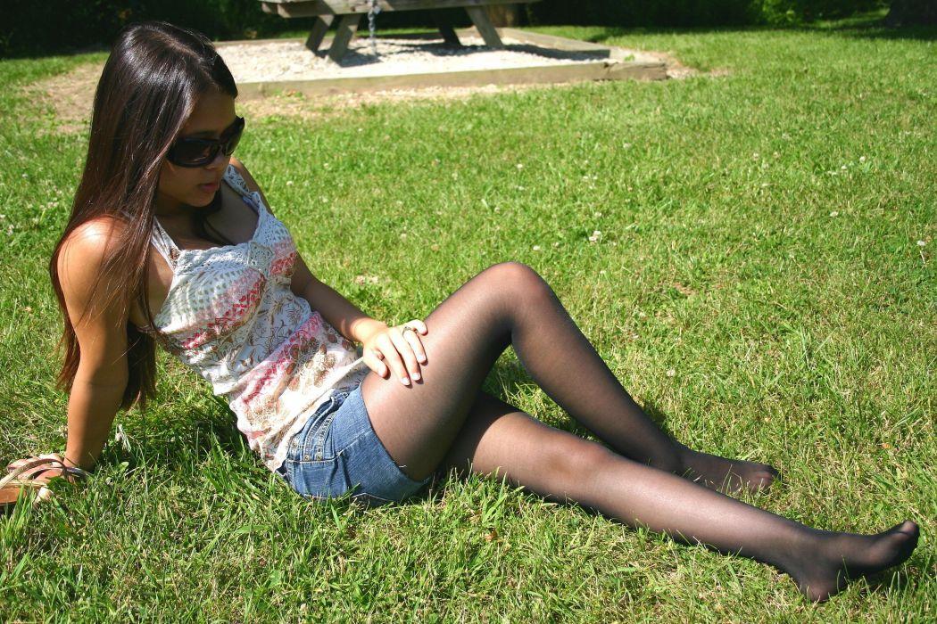 asian pantyhose stocking tights nylon sexy babe     f wallpaper
