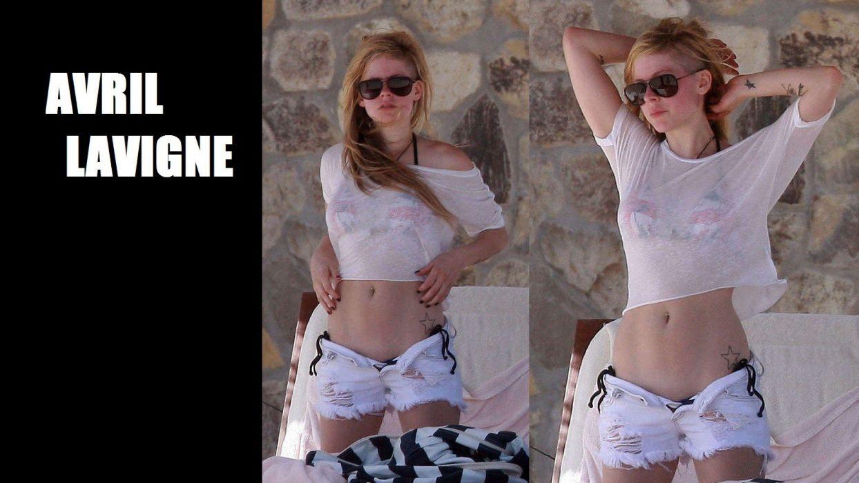 avril lavigne singer sexy babe bikini poster     f wallpaper