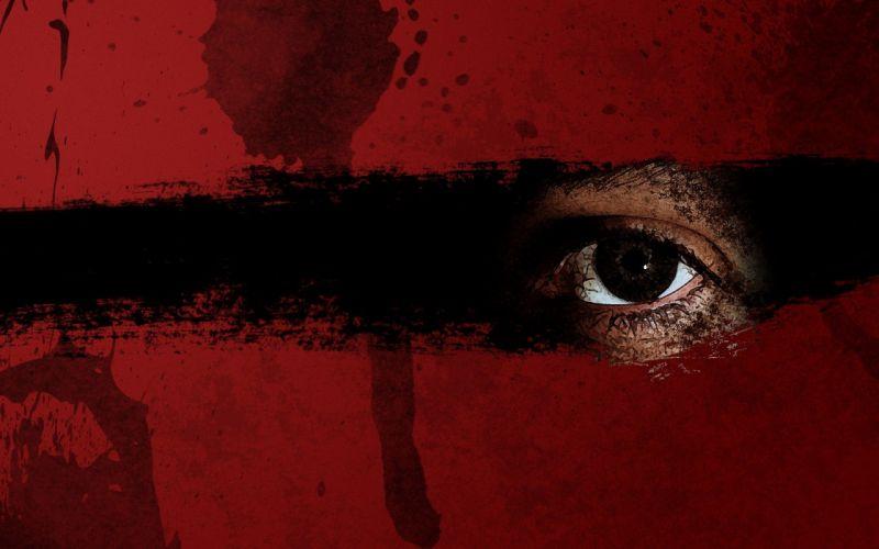 blood eye dark horror wallpaper