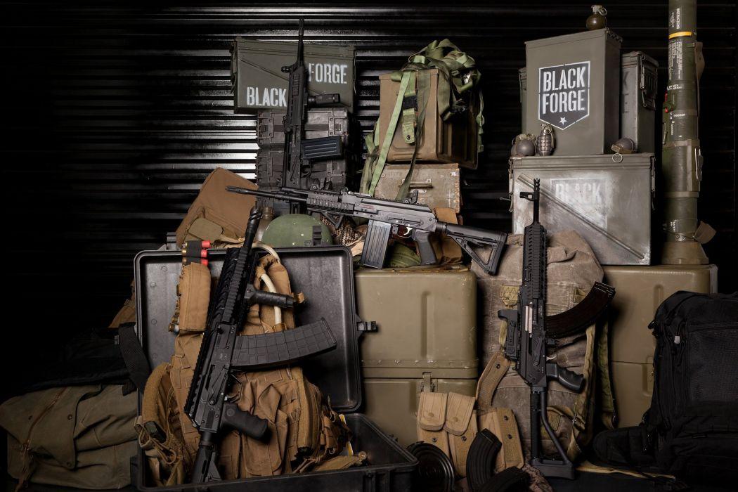 boar machine guns assault rifles weapon gun military wallpaper