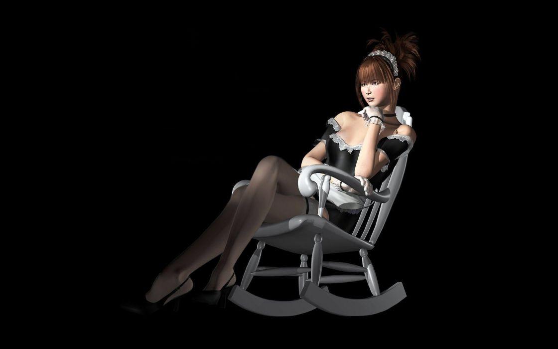 brunette asian stockings asian wallpaper