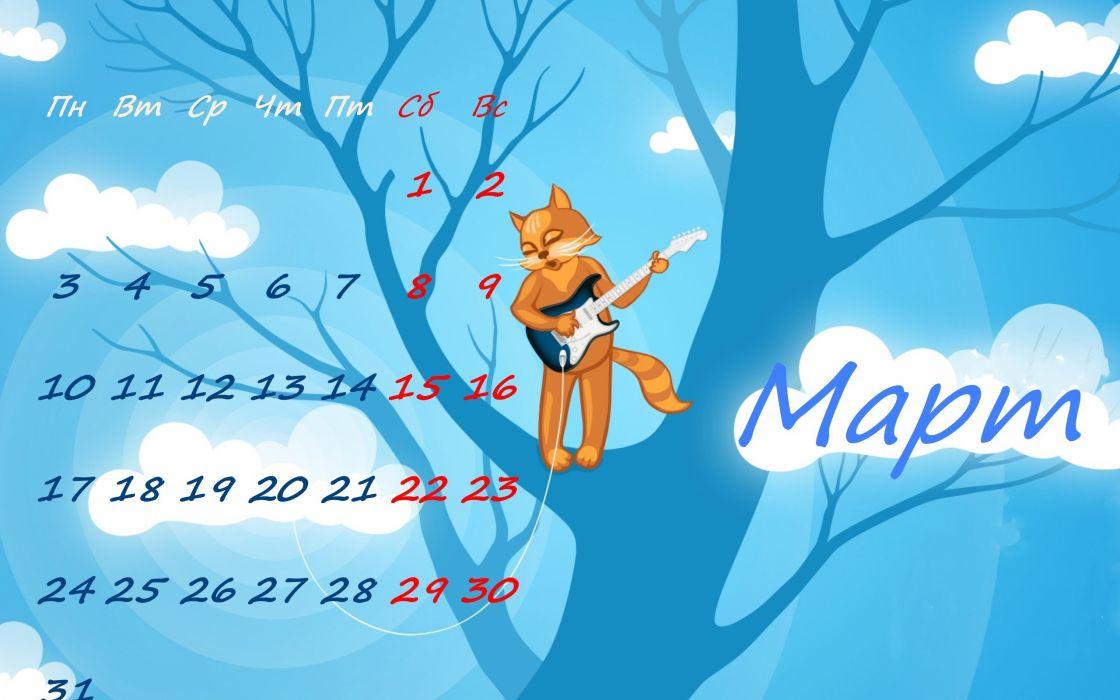 Calendar March wallpaper