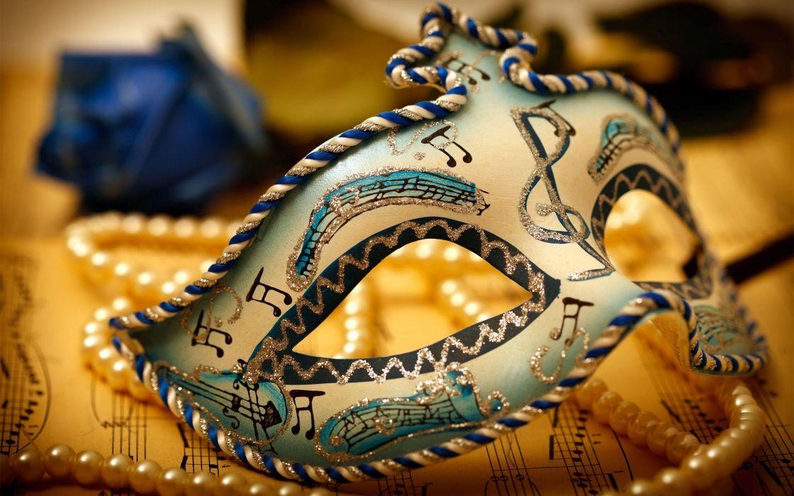 carnival mask decorated bokeh wallpaper