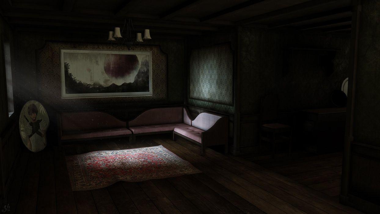 cg dark room wallpaper