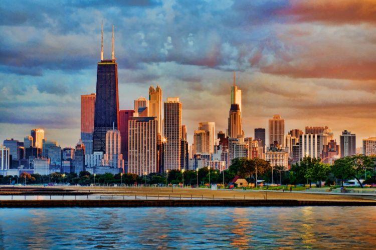 Chicago usa city night t wallpaper
