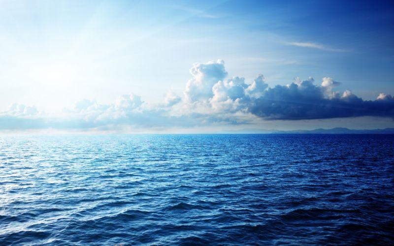 clouds sky caribbean sea beautiful nature sunlight ocean wallpaper