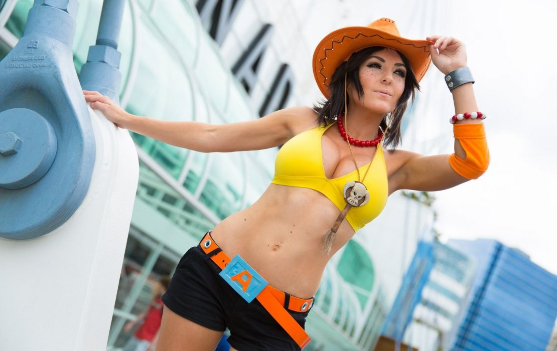 cosplay costume toy story jessie hat attitude jessica nigri sexy babe wallpaper