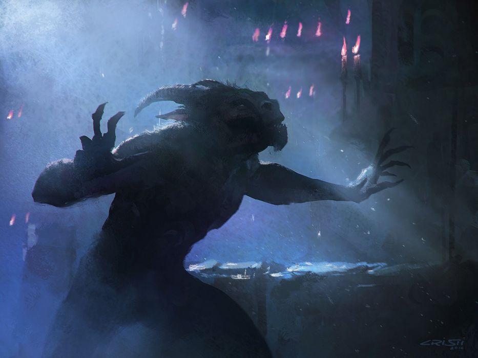 creature demon monster halloween horror dark fantasy wallpaper