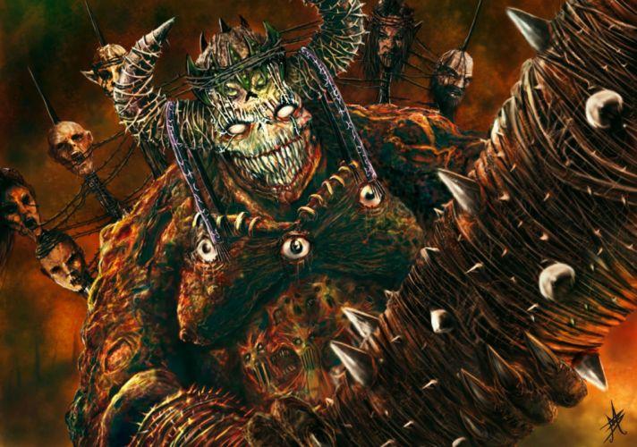 demon fantasy dark horror skull monster wallpaper