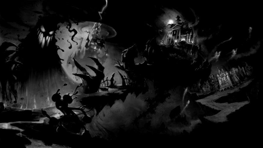 disney mickey mouse horror halloween haunted wallpaper