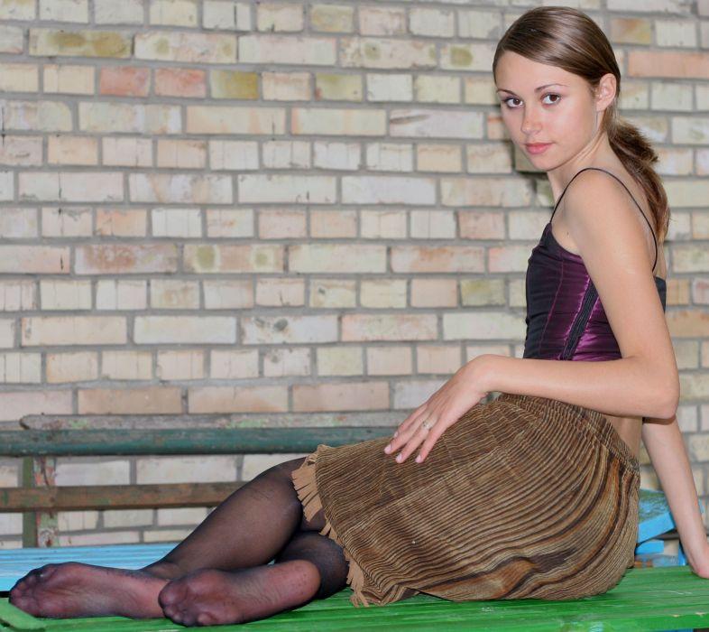 dress pantyhose stocking tights nylon sexy babe brunette   g wallpaper