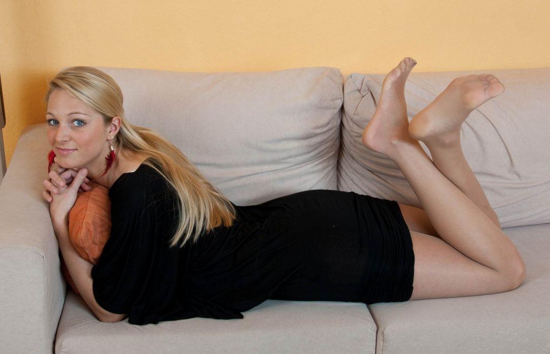 hair pantyhose stocking tights nylon sexy babe blonde wallpaper