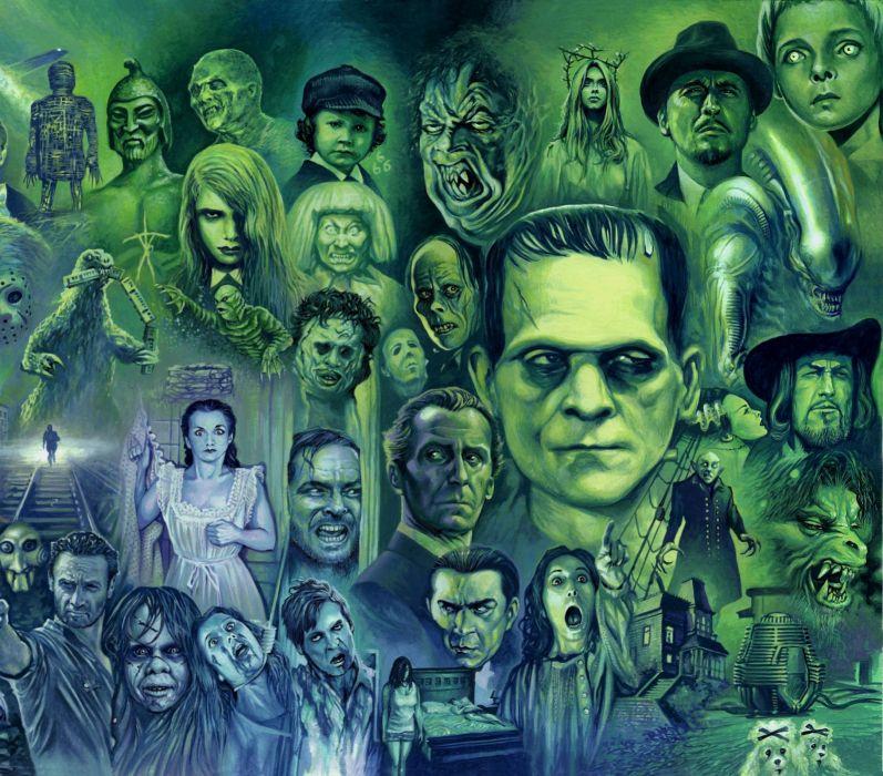halloween monster dark horror      g wallpaper