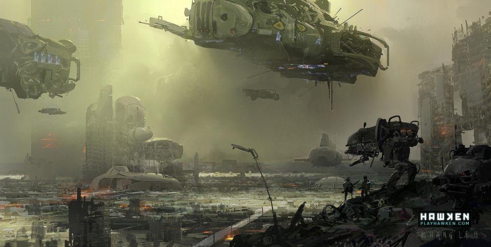 HAWKEN onlone mech mecha shooter sci-fi (1) wallpaper