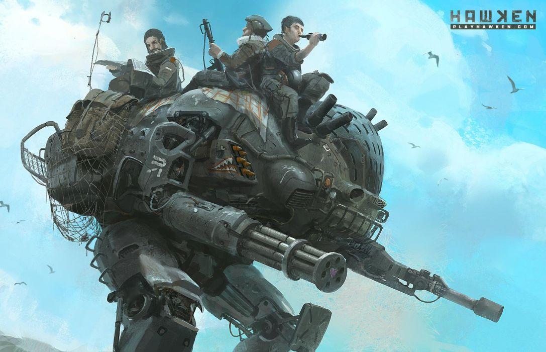 HAWKEN onlone mech mecha shooter sci-fi (6) wallpaper