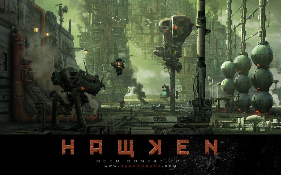 HAWKEN onlone mech mecha shooter sci-fi (8) wallpaper