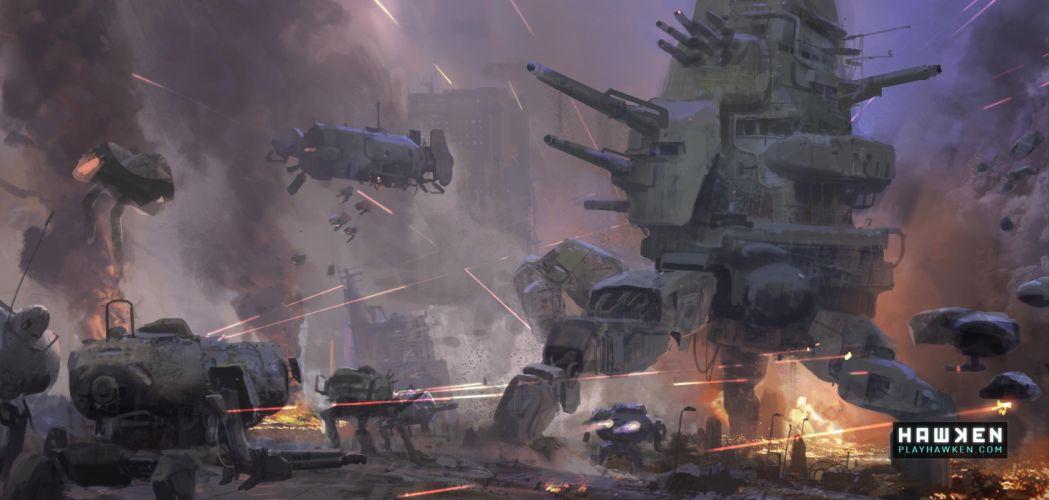 HAWKEN onlone mech mecha shooter sci-fi (10) wallpaper