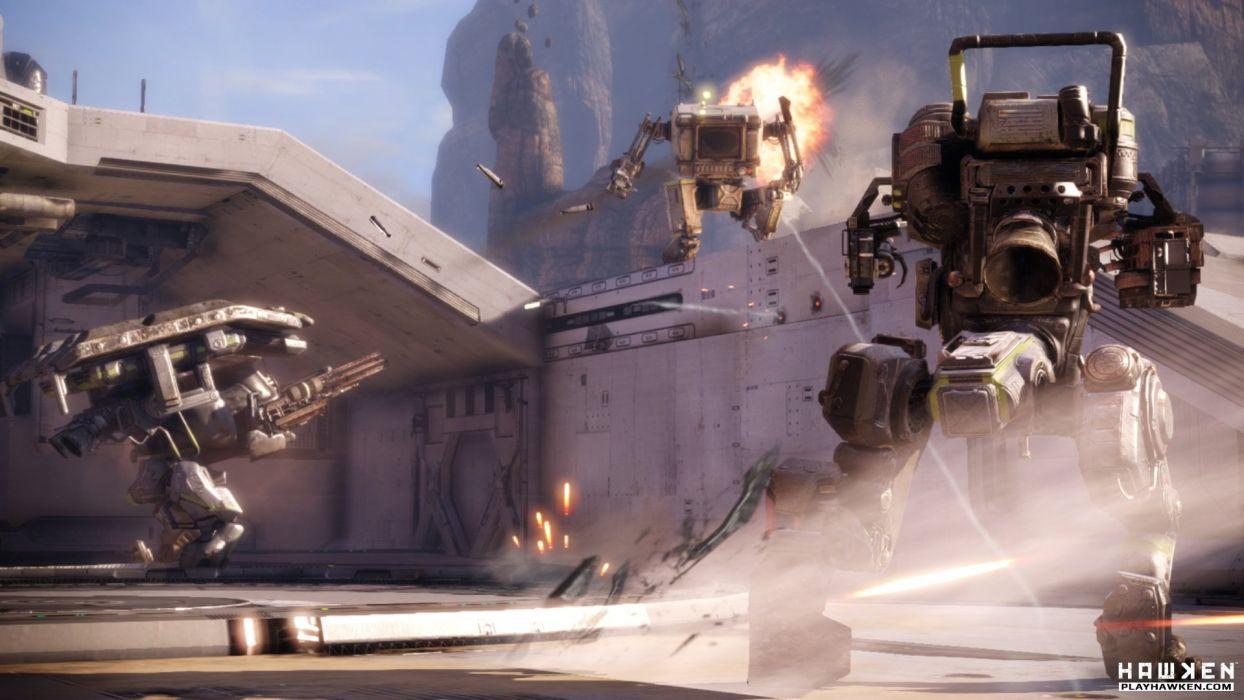 HAWKEN onlone mech mecha shooter sci-fi (13) wallpaper