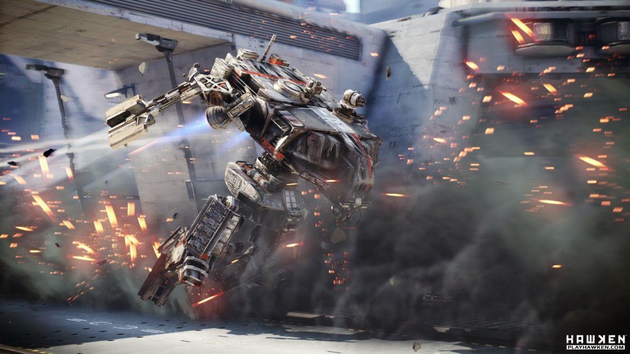 HAWKEN onlone mech mecha shooter sci-fi (27) wallpaper