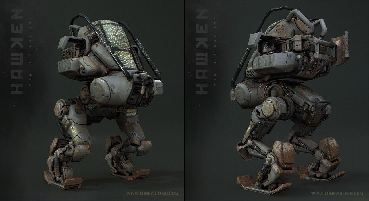 HAWKEN onlone mech mecha shooter sci-fi (55) wallpaper