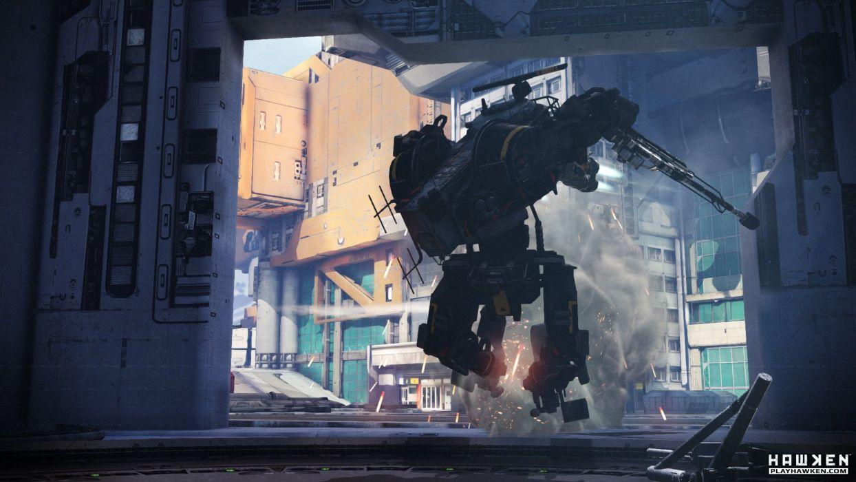 HAWKEN onlone mech mecha shooter sci-fi (63) wallpaper