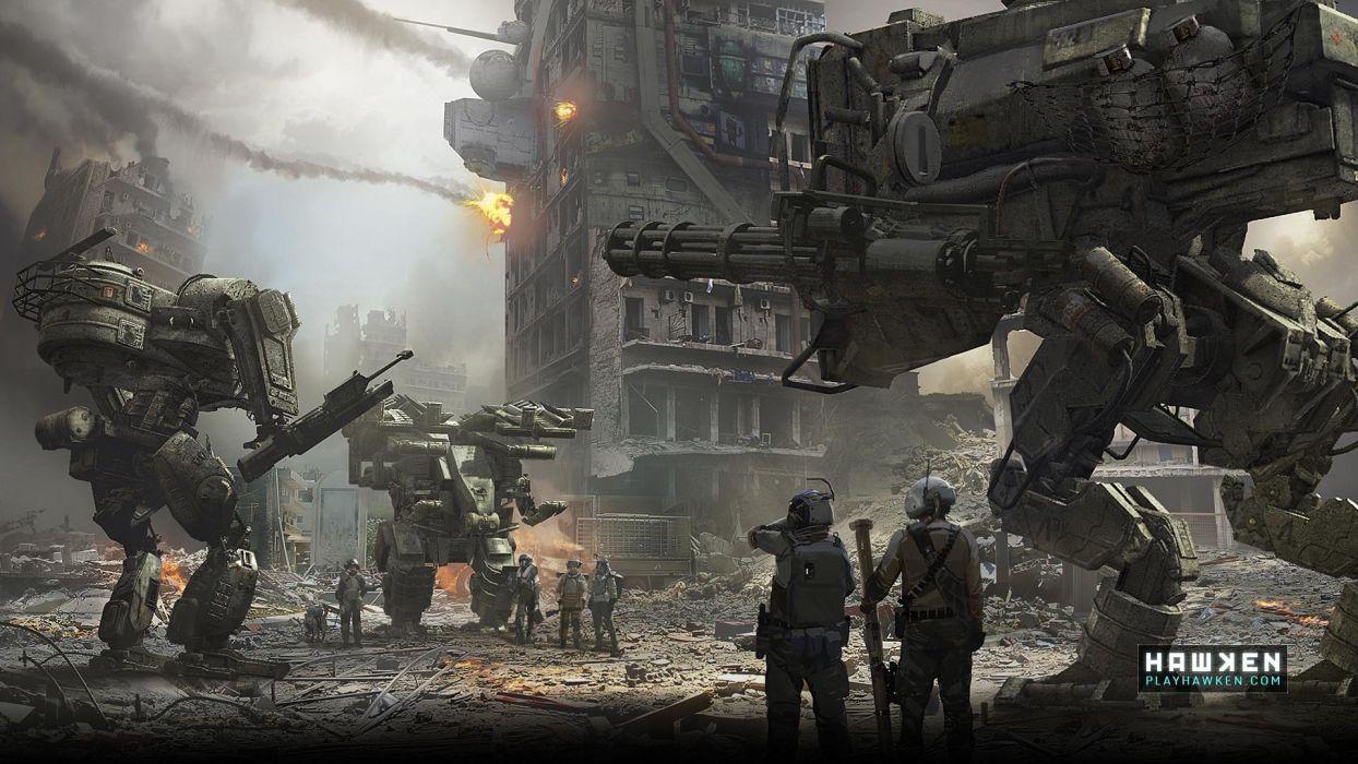 HAWKEN onlone mech mecha shooter sci-fi (72) wallpaper