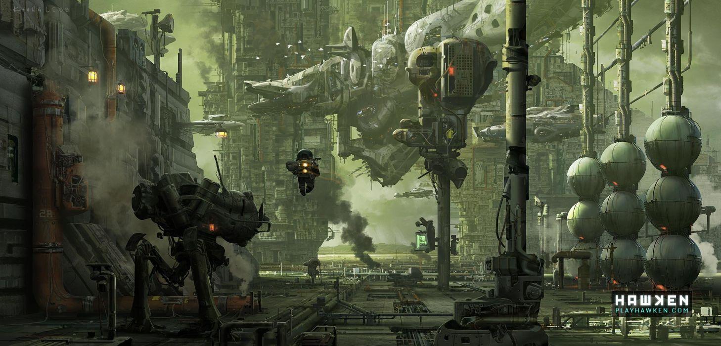 HAWKEN onlone mech mecha shooter sci-fi (91) wallpaper