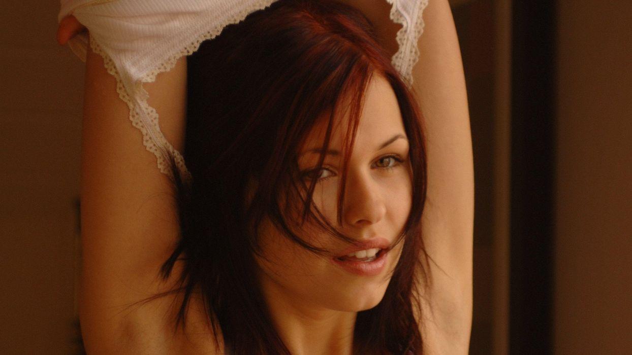Iga Wyrwal sexy babe adult redhead    hd wallpaper