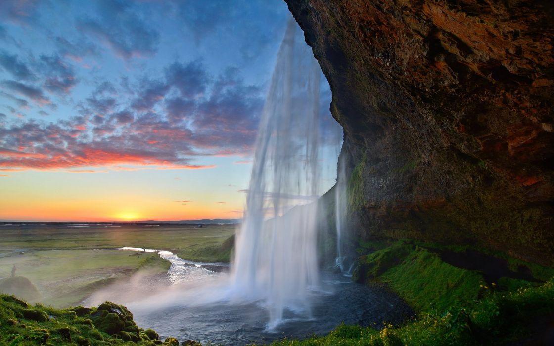 island seljalandsfoss waterfall wallpaper