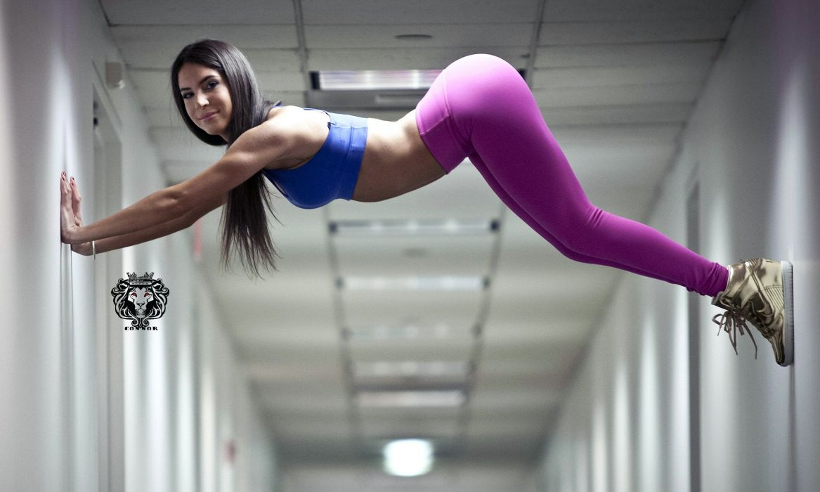 Jen Selter girl pink gym sexy babe fitness wallpaper