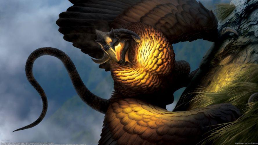 Liam Peters dragon monster wallpaper