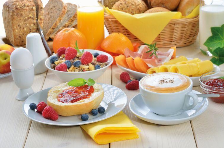 light muesli breakfast food raspberries wallpaper
